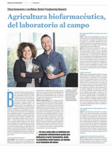 Articulo de La Vanguardia sobre Tricopharming
